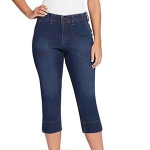 GLORIA Vanderbilt Rhea Capri Stretch Denim Blue